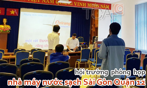 Dàn âm thanh hội trường phòng họp: nhà máy nước sạch Sài Gòn Quận 12