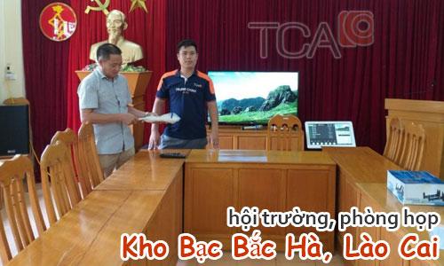 Dàn âm thanh hội trường, phòng họp: Kho Bạc Bắc Hà, Lào Cai