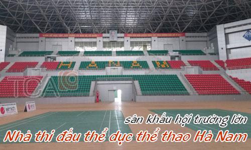 Dàn âm thanh sân khấu hội trường lớn: Nhà thi đấu thể dục thể thao Hà Nam