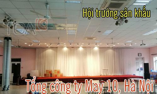 Bộ dàn âm thanh hội trường,ánh sáng sân khấu:Tổng công ty may 10,Hà Nội