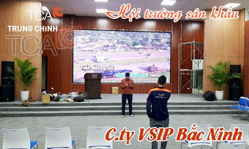 Bộ dàn âm thanh hội trường, ánh sân khấu: công ty VSIP Bắc Ninh