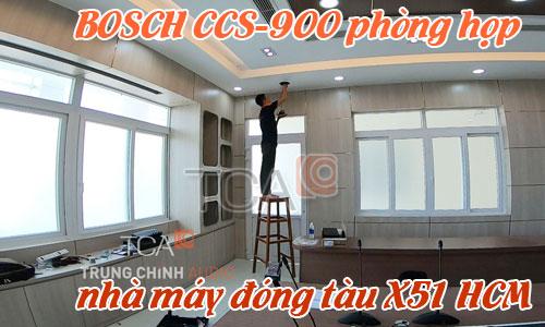 Hệ thống âm thanh phòng họp BOSCH 900 hội nghị, hội thảo: nhà máy đóng tàu X51 HCM