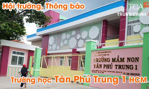 Âm thanh hội trường sân khấu, hệ thống thông báo trường học Tân Phú Trung 1 HCM