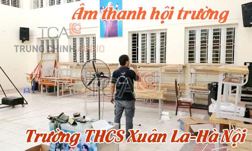 Bộ dàn âm thanh hội trường,phòng họp,thể dục trường học:THCS Xuân La,Hà Nội