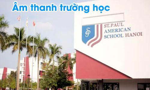 Hệ thống âm thanh thông báo TOA FV-200 cho trường học Quốc tế Mỹ St.Paul HÀ NỘI