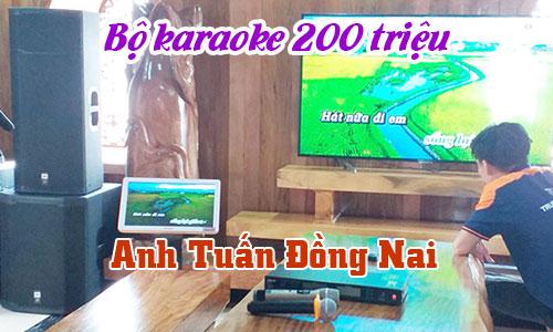 Bộ karaoke 200 triệu, dàn nhạc sống chuyên nghiệp: biệt thự anh Tuấn Đồng Nai