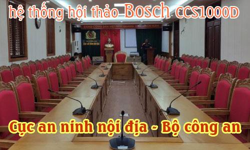 Hệ thống hội thảo BOSCH CCS1000D âm thanh phòng họp, hội nghị: CỤC AN NINH NỘI ĐỊA