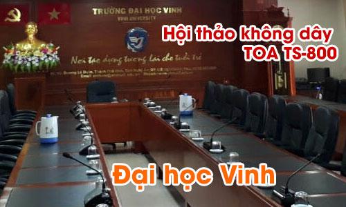 Hệ thống âm thanh hội thảo không dây TOA TS-800: Phòng họp Trường Đại học Vinh