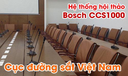 Hệ thống âm thanh hội thảo, hội nghị Bosch CCS1000: phòng họp CỤC ĐƯỜNG SẮT Việt Nam