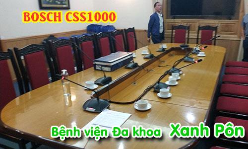 Hệ thống hội thảo, hội nghị BOSCH CSS1000: âm thanh phòng họp bệnh viện XANH PÔN