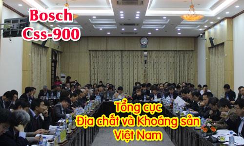 Hệ thống hội thảo BOSCH CCS 900: Tổng cục Địa chất và Khoáng sản Việt Nam