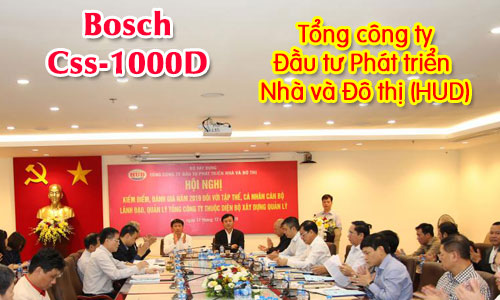 Hệ thống hội nghị bosch Css1000: phòng họp hội thảo Tổng công ty HUD