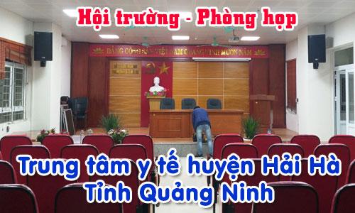 Bộ dàn âm thanh hội trường sân khấu phòng họp: Trung tâm y tế huyện Hải Hà, Tỉnh Quảng Ninh