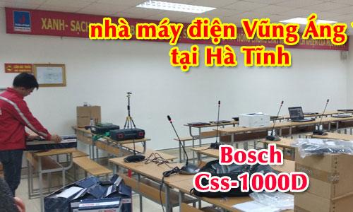 Hệ thống âm thanh hội nghị BOSCH CCS1000: phòng họp hội thảo Nhà máy Vũng Áng 1