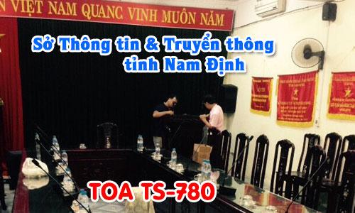 Hệ thống hội thảo TOA TS-780: phòng họp Sở Thông tin và Truyền thông Nam Định