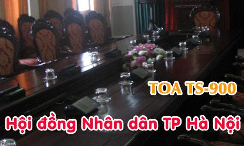 Hệ thống âm thanh hội thảo không dây TOA TS-900 phòng họp HĐND TP Hà Nội