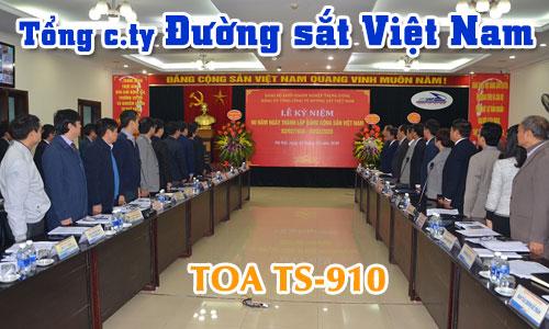 Hệ thống hội thảo không dây TOA TS-910: âm thanh phòng họp hội nghị ĐƯỜNG SẮT VIỆT NAM