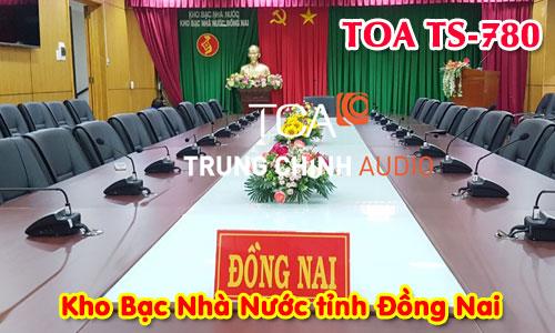 Hệ thống âm thanh hội nghị TOA TS-780: phòng họp hội thảo Kho Bạc Nhà Nước Đồng Nai
