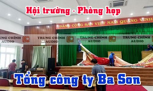 Bộ dàn âm thanh hội trường sân khấu, phòng họp: Tổng công ty Ba Son