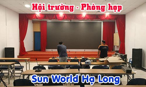 Lắp đặt hệ thống âm thanh phòng họp hội thảo, hội trường sân khấu: Sun World Hạ Long