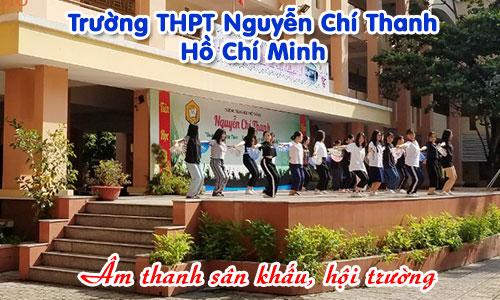 Âm thanh sân khấu hội trường cho trường học THPT Nguyễn Chí Thanh HCM