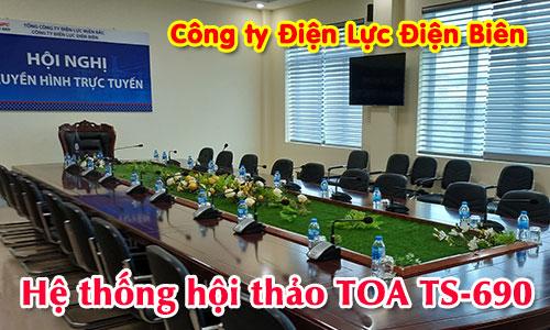 Hệ thống hội thảo TOA TS-690: phòng họp, hội nghị Công ty Điện Lực Điện Biên