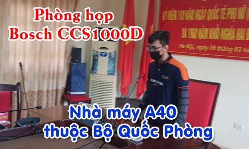 Hệ thống âm thanh hội thảo: phòng họp hội nghị trực tuyến nhà máy A40