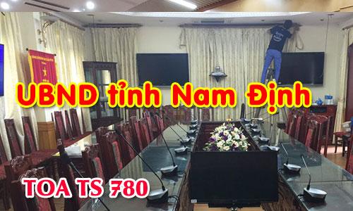 Hệ thống âm thanh hội thảo TOA TS 780 phòng họp trực tuyến: UBND tỉnh Nam Định