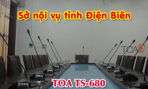 Hệ thống âm thanh hội thảo TOA TS-680: phòng họp hội nghị Sở nội vụ tỉnh Điện Biên