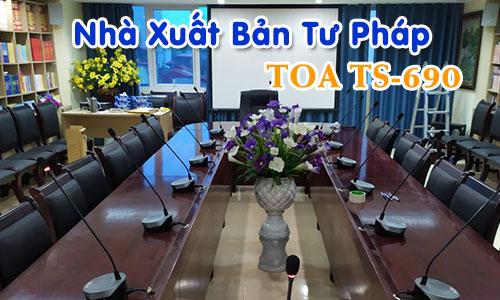 Hệ thống hội thảo TOA TS-690: phòng họp hội nghị Nhà Xuất Bản Tư Pháp