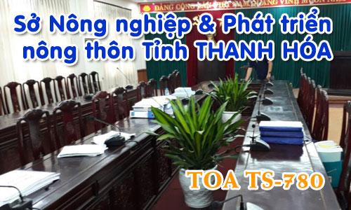 Hệ thống âm thanh hội thảo TOA TS-780: phòng họp hội nghị Sở Nông nghiệp THANH HÓA