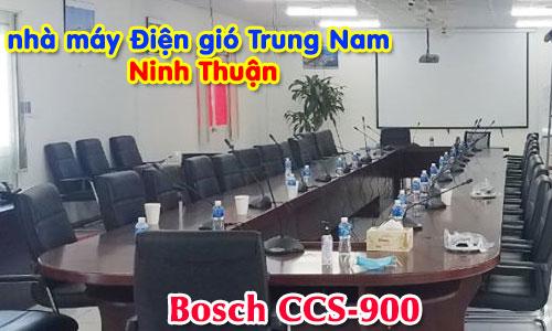 Hệ thống hội thảo BOSCH CCS900 Phòng họp hội nghị trực tuyến: Điện gió Trung Nam