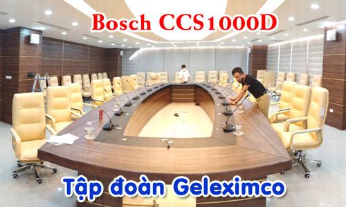 Âm thanh phòng họp, hệ thống hội thảo BOSCH CCS1000 hội nghị trực tuyến: tập đoàn Geleximco