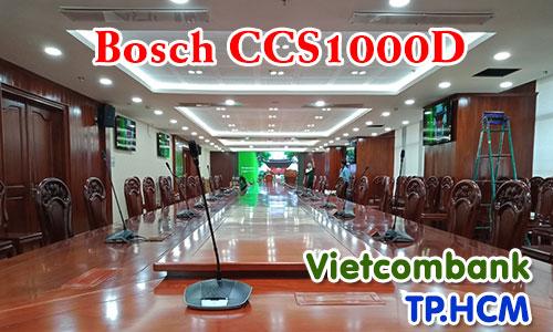 Hệ thống hội thảo BOSCH CCS1000 hội nghị trực tuyến: Âm thanh phòng họp Vietcombank, tp.HCM