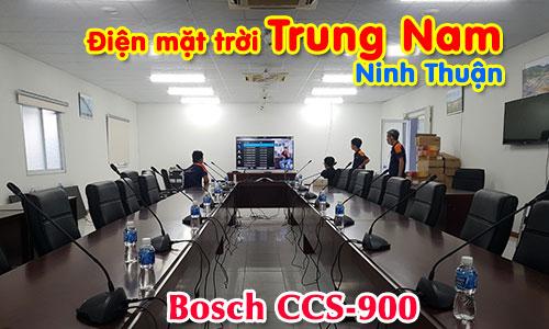 Hệ thống hội thảo Bosch CCS900 âm thanh phòng họp trực tuyến: Điện mặt trời Trung Nam, Ninh Thuận