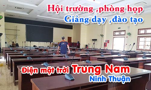 Hệ thống âm thanh hội trường phòng họp, giảng dạy đào tạo: Điện mặt trời Trung Nam, Ninh Thuận