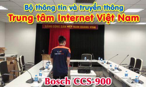 Hệ thống âm thanh hội thảo bosch CCS900:  Phòng họp trực tuyến Trung tâm Internet Việt Nam