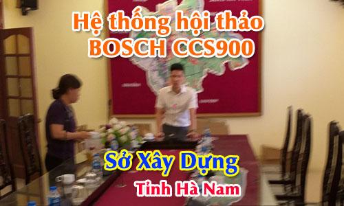 Hệ thống hội thảo BOSCH CCS900 âm thanh phòng họp trực tuyến: Sở Xây Dựng Hà Nam