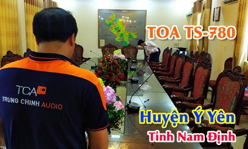 Hệ thống hội thảo TOA TS-780 âm thanh phòng họp trực tuyến: Huyện Ý Yên, Nam Định