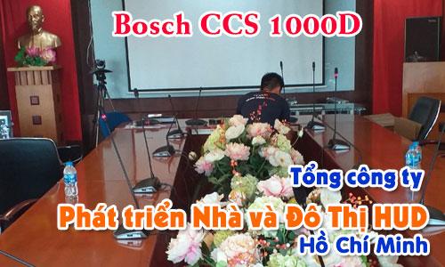 Hệ thống âm thanh hội thảo Bosch CCS 1000D: Phòng họp hội nghị trực tuyến HUD SÀI GÒN
