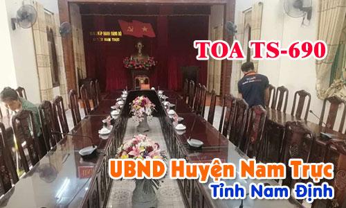 Hệ thống âm thanh hội thảo TOA TS-690: Phòng họp Huyện Nam Trực, Nam Định