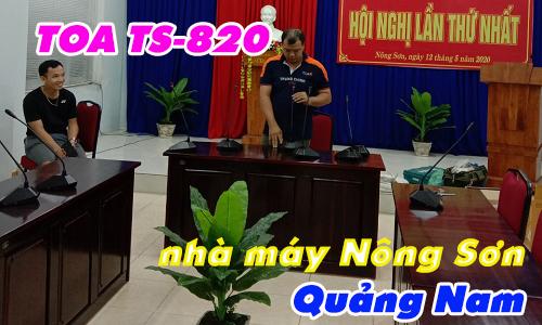 Hệ thống âm thanh hội thảo TOA TS-820: phòng họp nhà máy Nhiệt điện Nông Sơn