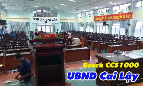 Hệ thống âm thanh hội thảo Bosch CCS1000D: UBND thị xã Cai Lậy