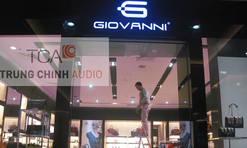 Hệ thống âm thanh TOA: Shop thời trang Giovanni