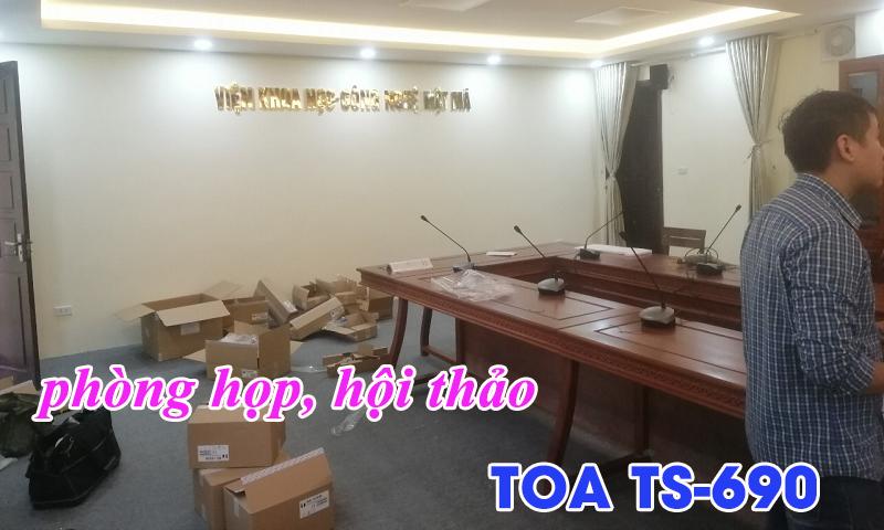 Lắp đặt âm thanh hội thảo TOA TS-690: phòng họp Viện Khoa Học - Công Nghệ Mật Mã