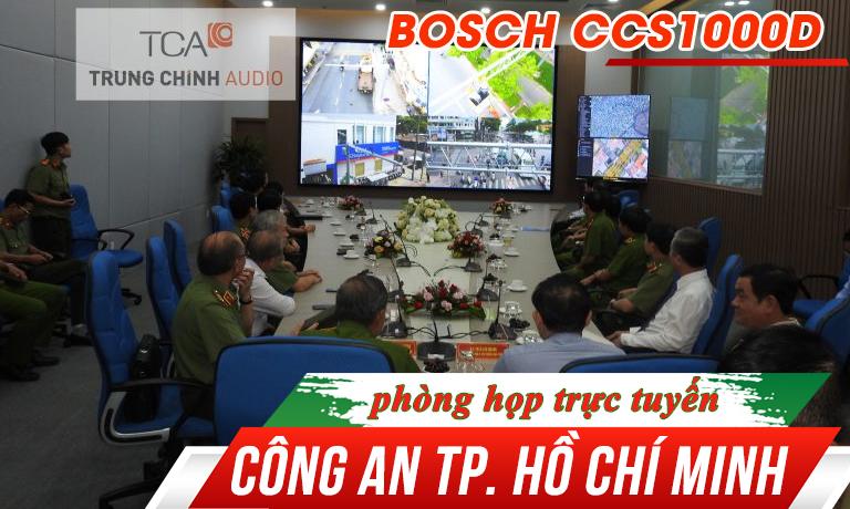Hệ thống hội thảo Bosch CCS 1000D, phòng họp trực tuyến: Công An TP. Hồ Chí Minh