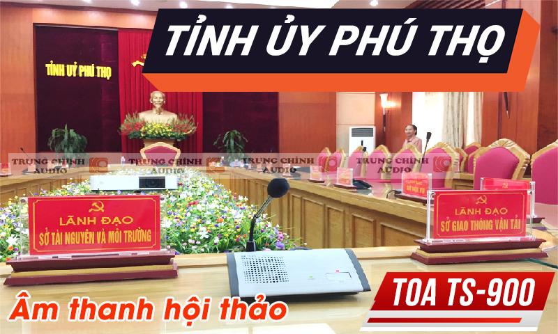 Âm thanh phòng họp: Hệ thống hội thảo, hội nghị cho tỉnh ủy Phú Thọ