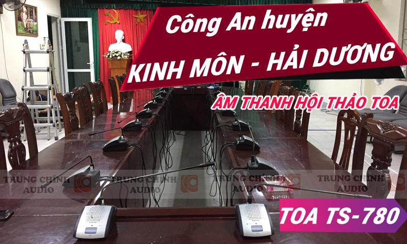 Hệ thống hội thảo TOA âm thanh phòng họp: Công an huyện Kinh Môn - Hải Dương