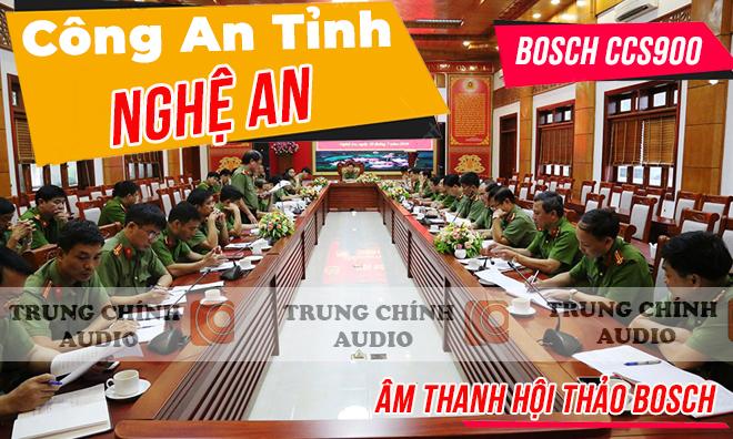 Âm thanh phòng họp Bosch CCS 900: hội nghị , hội thảo Công An Tỉnh Nghệ An