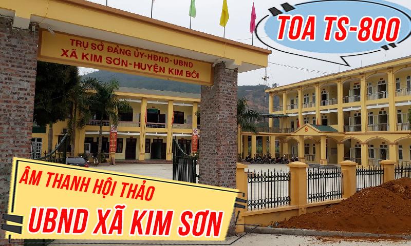 Hệ thống hội thảo, hội nghị phòng họp TOA TS-800: Kim Sơn, Ninh Bình
